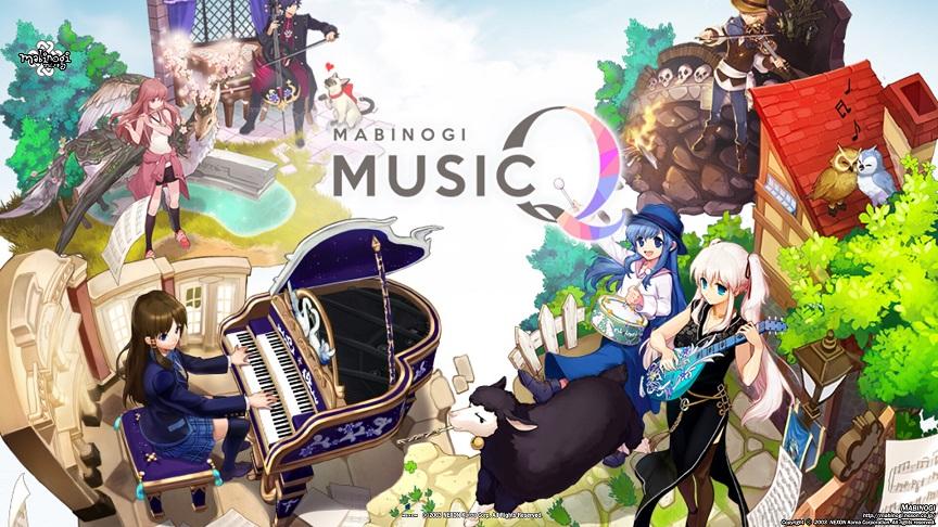 マビノギMusicQゲームスタート画面