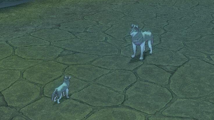 G2キアダンジョンで巨大白オオカミに遭遇